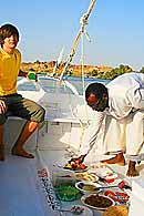 Felucca sailing with lunch